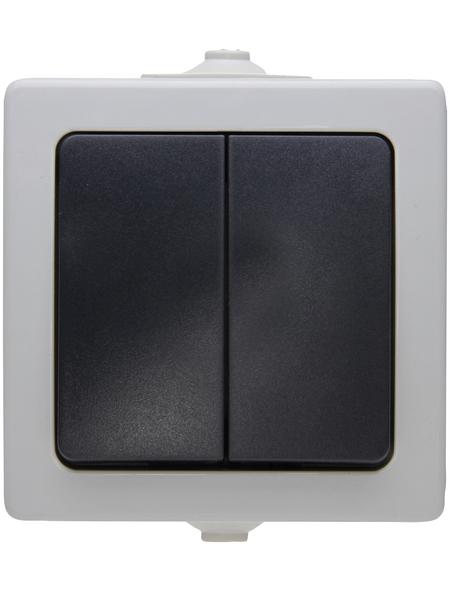 KOPP Serienschalter, NAUTIC, Kunststoff, Grau