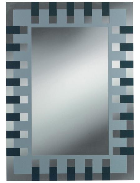 KRISTALLFORM Siebdruckspiegel »Enzo«, rechteckig, BxH: 50 x 70 cm, anthrazit|silberfarben