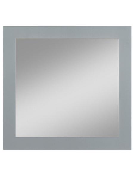 KRISTALLFORM Siebdruckspiegel, quadratisch, BxH: 45 x 45 cm, silberfarben