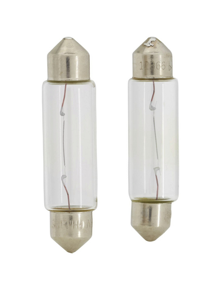 PHILIPS Soffittenlampe, Vision, T1 0,5x43, SV8,5, 10 W, 2 Stück