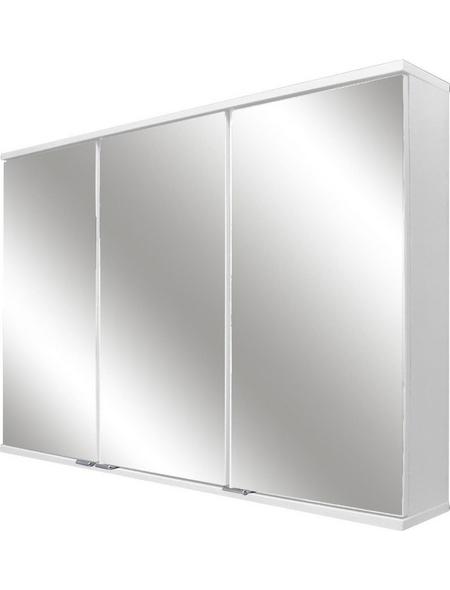 FACKELMANN Spiegelschrank »Lavella und Rondo«, 3-türig, LED, BxH: 100,5 x 68 cm