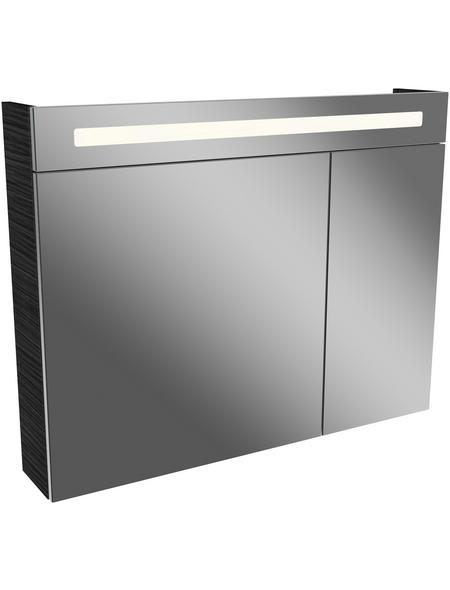 FACKELMANN Spiegelschrank »Lino Dark Oak«, 2-türig, LED, BxH: 90 x 71 cm