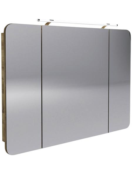 FACKELMANN Spiegelschrank »Milano«, 3-türig, LED, BxH: 110 x 78 cm