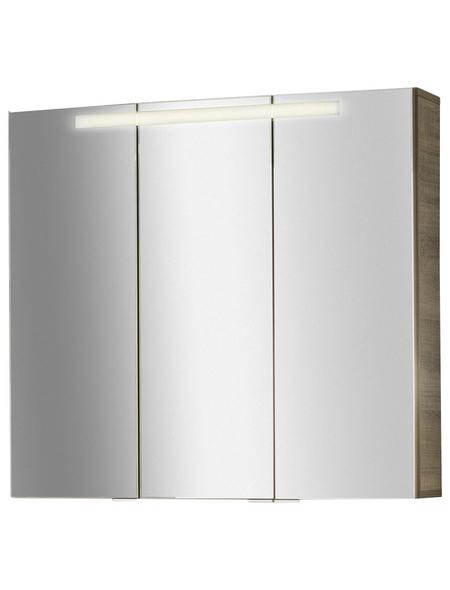 FACKELMANN Spiegelschrank »Piuro«, 3-türig, BxH: 79,5 x 73,5 cm, beleuchtet
