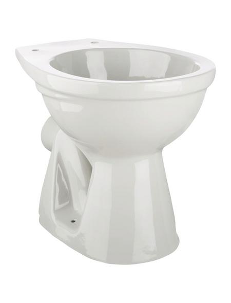 aquaSu® Stand WC, Tiefspüler, manhattan, mit Spülrand