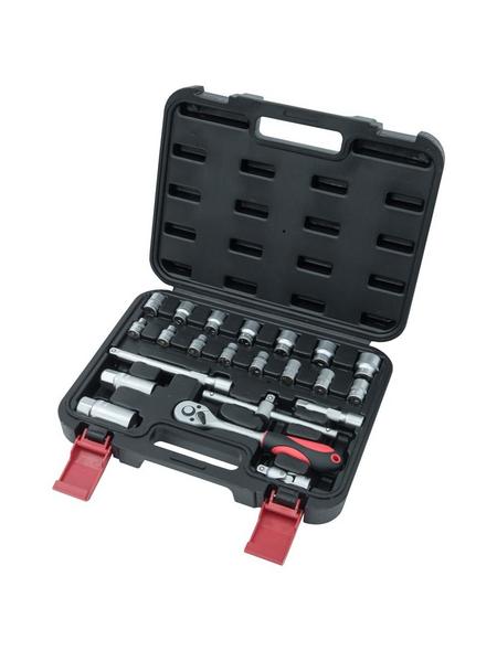 CONNEX Steckschlüsselsatz 22-teilig, Schlüsselgröße: 6 – 19; 22 mm