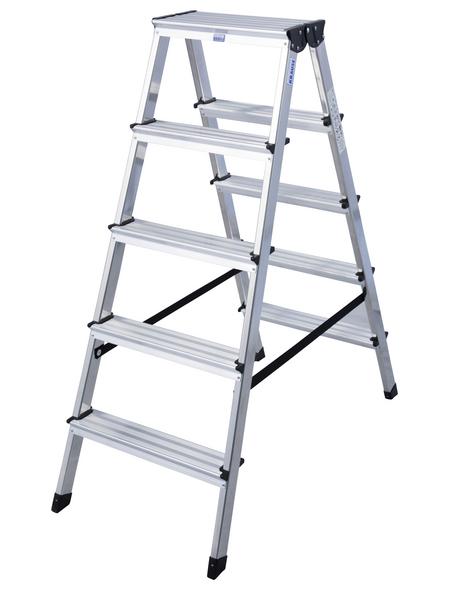 KRAUSE Stufen-Doppelleiter »MONTO Dopplo«, 10 Sprossen, Aluminium