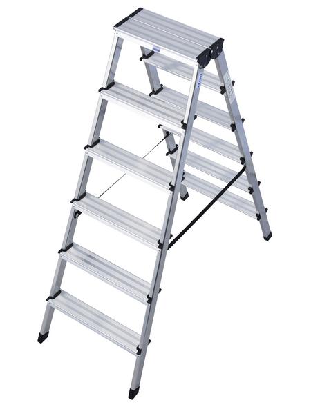 KRAUSE Stufen-Doppelleiter »MONTO Dopplo«, 12 Sprossen, Aluminium
