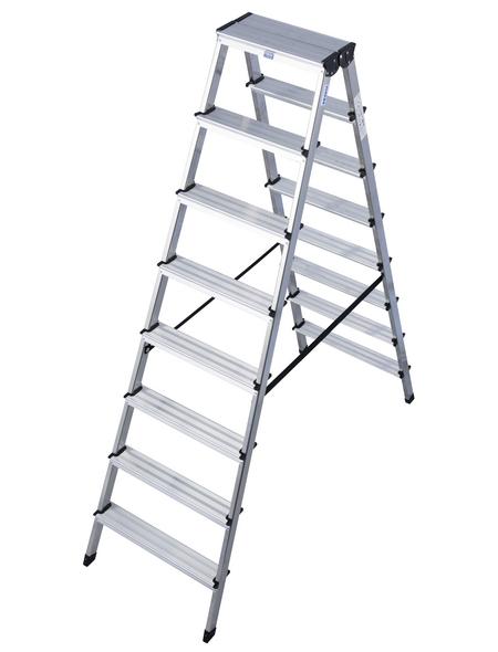 KRAUSE Stufen-Doppelleiter »MONTO Dopplo«, 16 Sprossen, Aluminium