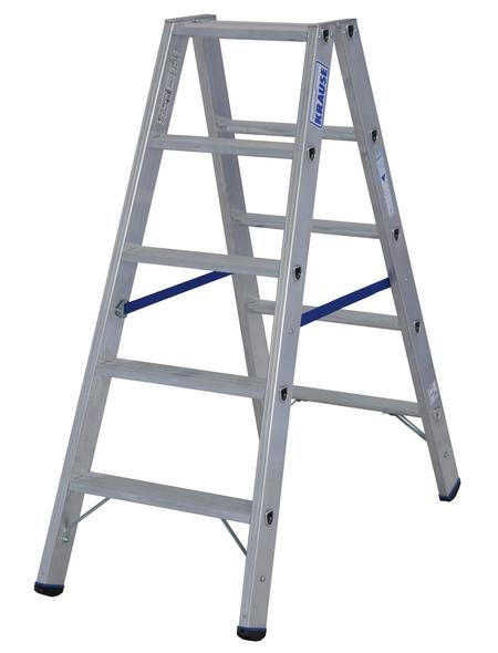 KRAUSE Stufen-Doppelleiter »STABILO«, 10 Sprossen, Aluminium