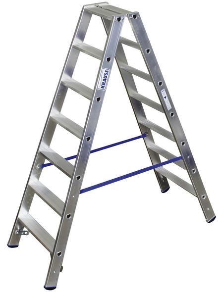 KRAUSE Stufen-Doppelleiter »STABILO«, 14 Sprossen, Aluminium