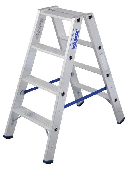 KRAUSE Stufen-Doppelleiter »STABILO«, 8 Sprossen, Aluminium