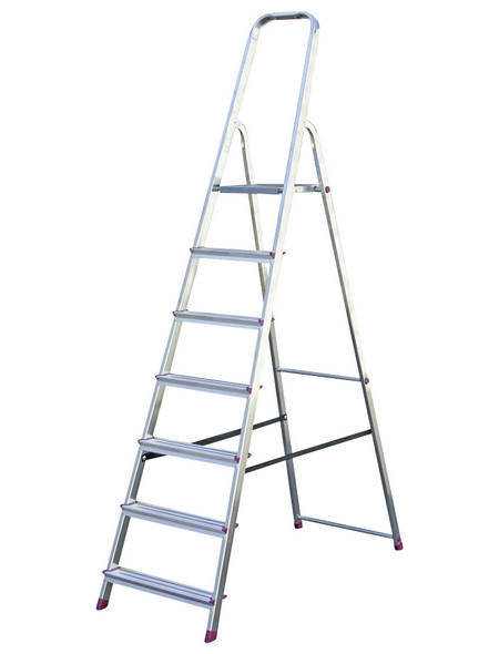 KRAUSE Stufen-Stehleiter »CORDA«, 7 Sprossen, Aluminium