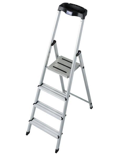 KRAUSE Stufen-Stehleiter »MONTO Safety«, 4 Sprossen, Aluminium
