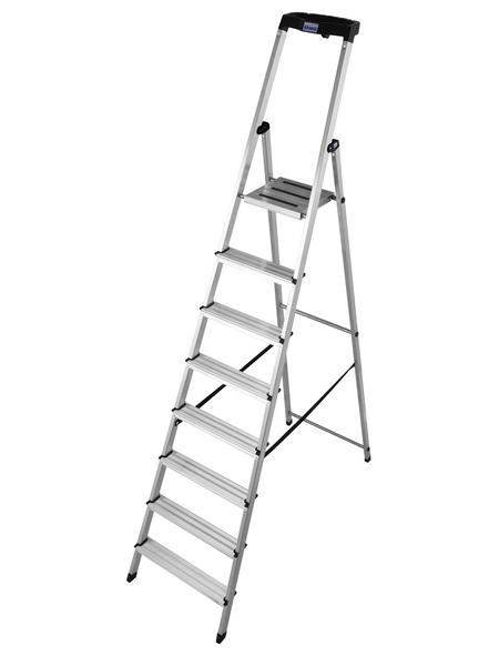 KRAUSE Stufen-Stehleiter »MONTO Safety«, 8 Sprossen, Aluminium