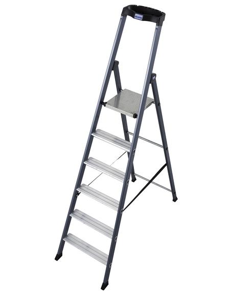 KRAUSE Stufen-Stehleiter »MONTO SePro S«, 6 Sprossen, Aluminium