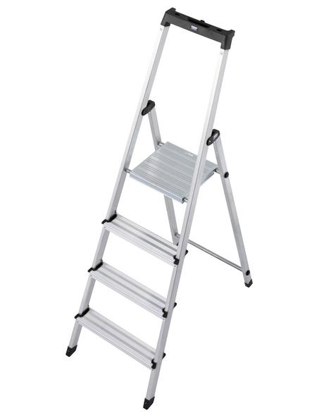 KRAUSE Stufen-Stehleiter »MONTO Solidy«, 4 Sprossen, Aluminium