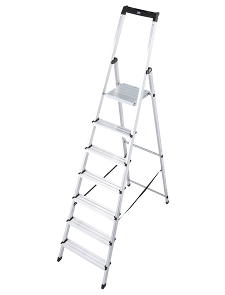 KRAUSE Stufen-Stehleiter »MONTO Solidy«, 7 Sprossen, Aluminium