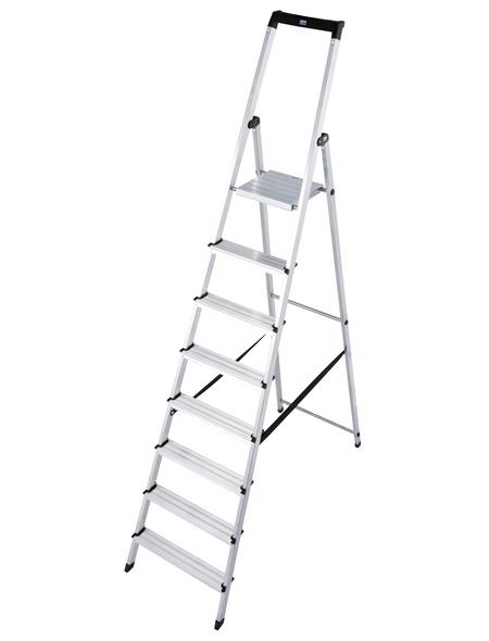 KRAUSE Stufen-Stehleiter »MONTO Solidy«, 8 Sprossen, Aluminium