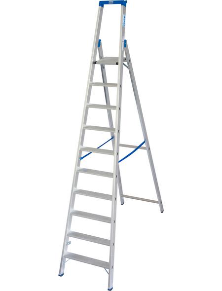 KRAUSE Stufen-Stehleiter »STABILO«, 10 Sprossen, Aluminium
