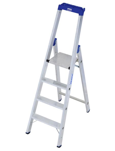 KRAUSE Stufen-Stehleiter »STABILO«, 4 Sprossen, Aluminium