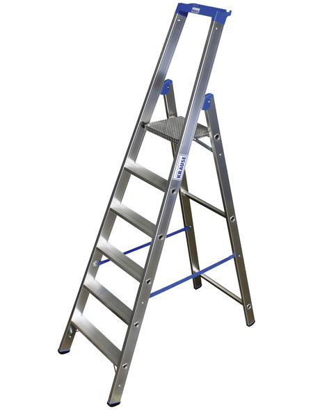KRAUSE Stufen-Stehleiter »STABILO«, 6 Sprossen, Aluminium