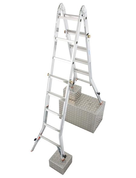 KRAUSE Teleskopleiter »MONTO TeleVario«, 20 Sprossen, Aluminium