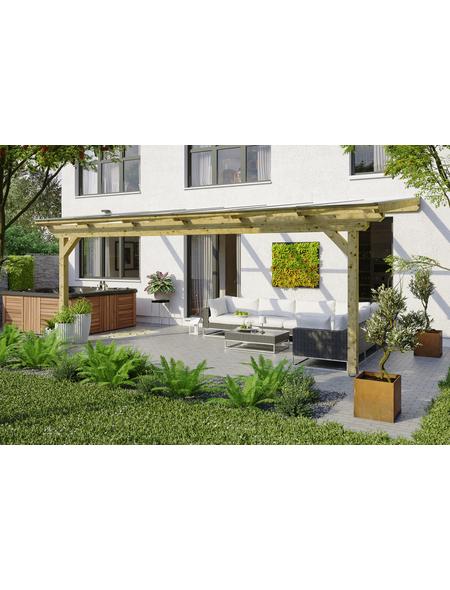 SKANHOLZ Terrassenüberdachung »Ancona«, Breite: 648 cm, Dach: Polycarbonat (PC), natur