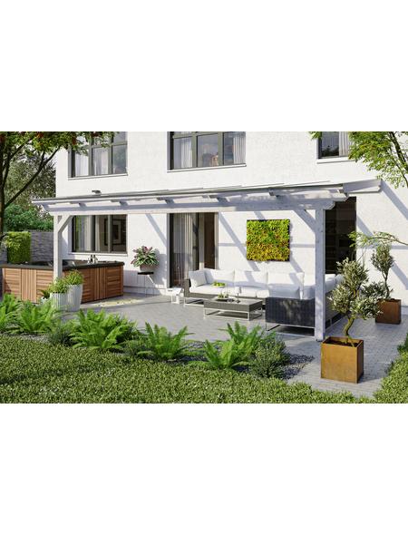 SKANHOLZ Terrassenüberdachung »Ancona«, Breite: 648 cm, Dach: Polycarbonat (PC), weiß