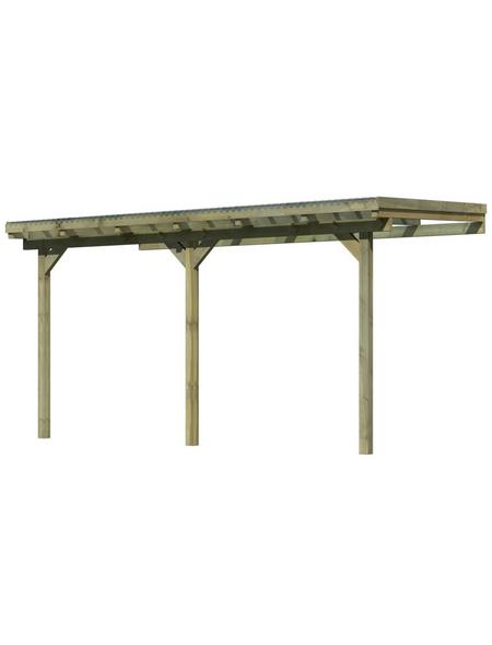 KARIBU Terrassenüberdachung »Eco Modell KDI 1«, Breite: 387 cm, Dach: Polyvinylchlorid (PVC), braun