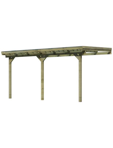 KARIBU Terrassenüberdachung »Eco Modell KDI 2«, Breite: 387 cm, Dach: Polyvinylchlorid (PVC), braun