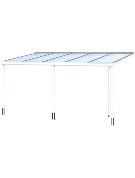 SKANHOLZ Terrassenüberdachung »Garda«, Breite: 541 cm, Dach: Polycarbonat (PC), weiß