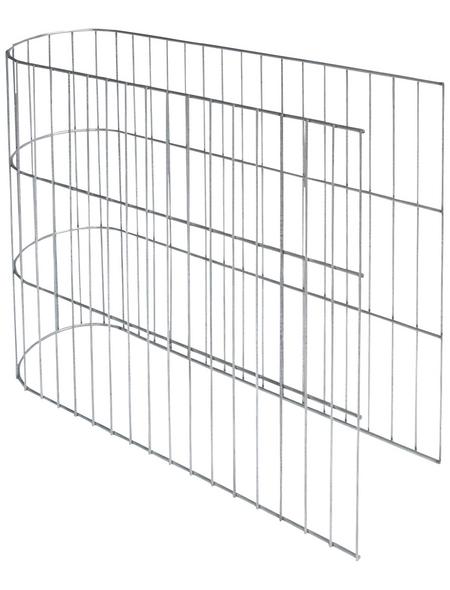 BELLISSA U-Gabione, BxHxL: 20 x 45 x 60 cm, Stahl
