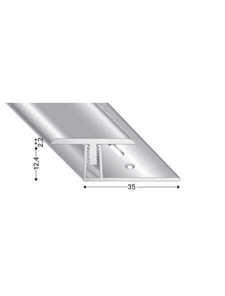 KÜGELE PROFILE Übergangsprofil-Set »T-FLEX«, silberfarben, BxLxH: 30 x 2700 x verstellbar 13-18 mm