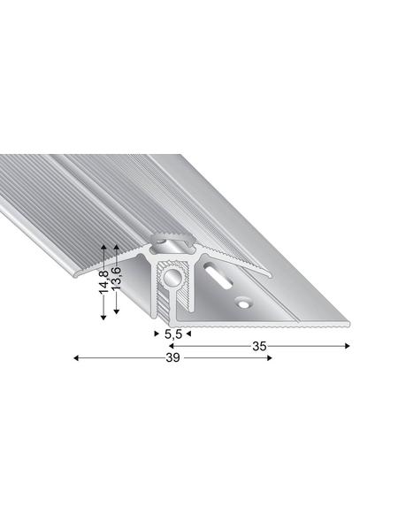 KÜGELE PROFILE Übergangsprofil-Set »TRIO GRIP® x«, edelstahlfarben, BxLxH: 39 x 1000 x verstellbar 7,5-16,5 mm