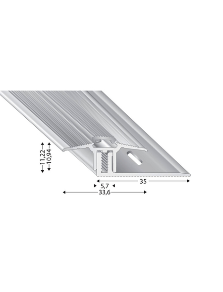 KÜGELE PROFILE Übergangsprofil-Set »TRIO GRIP® x«, sandfarben, BxLxH: 33,6 x 1000 x verstellbar 7-15 mm