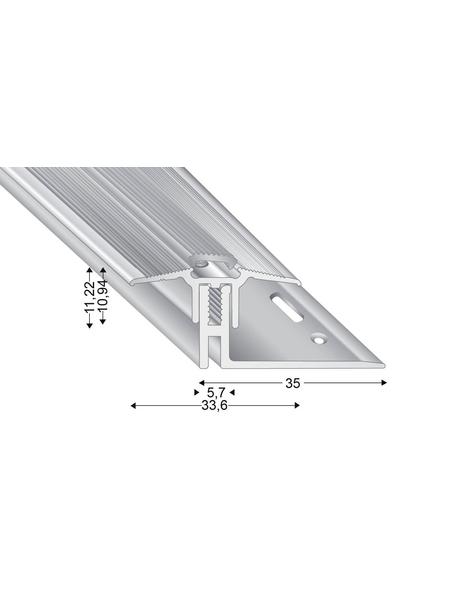 KÜGELE PROFILE Übergangsprofil-Set »TRIO GRIP® x«, silberfarben, BxLxH: 33,6 x 1000 x verstellbar 15-22 mm