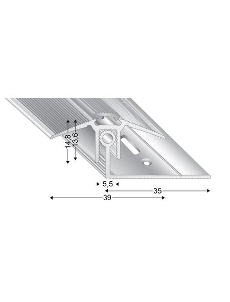 KÜGELE PROFILE Übergangsprofil-Set »TRIO GRIP® x«, silberfarben, BxLxH: 39 x 2700 x verstellbar 13-21 mm