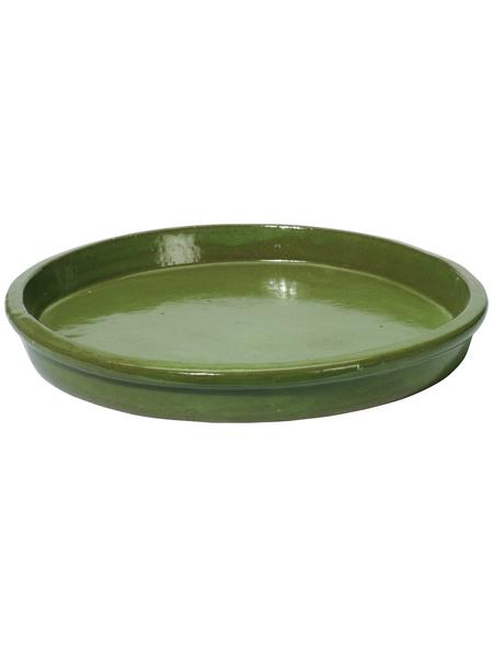 Kirschke Untersetzer »TerraDura glasiert«, pistaziengrün, Steinzeug, rund