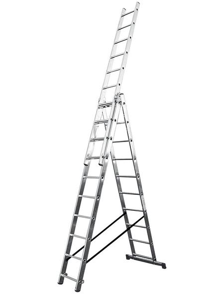 KRAUSE Vielzweckleiter »CORDA«, 30 Sprossen, Aluminium