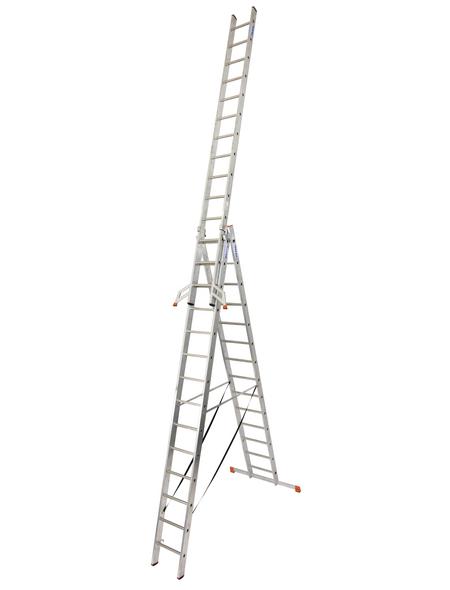 KRAUSE Vielzweckleiter »MONTO Tribilo«, 42 Sprossen, Aluminium