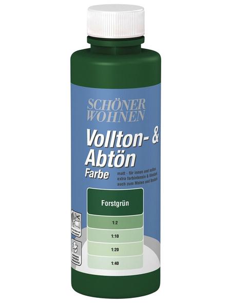 SCHÖNER WOHNEN FARBE Voll- und Abtönfarbe, forstgrün, 125 ml