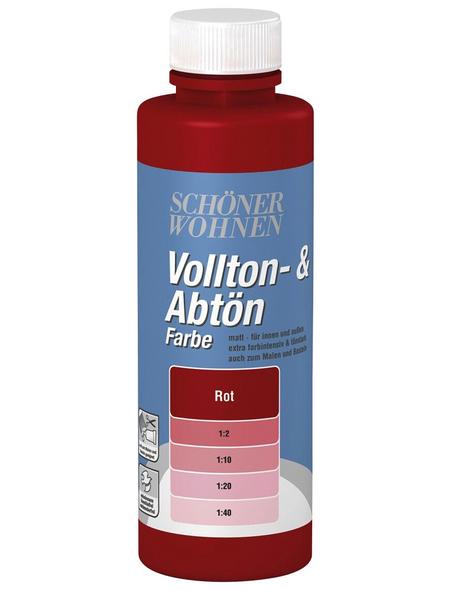 SCHÖNER WOHNEN FARBE Voll- und Abtönfarbe, rot, 125 ml