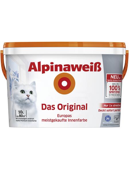alpina Wandfarbe »Alpinaweiß«, Alpinaweiß, matt