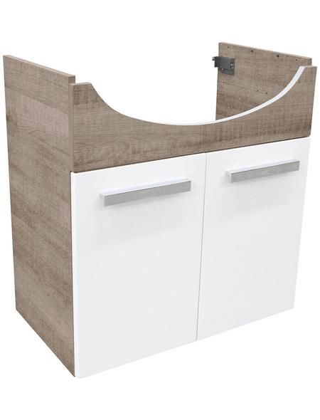 FACKELMANN Waschtischunterbau »A-Vero«, B x H x T: 63 x 64 x 35 cm