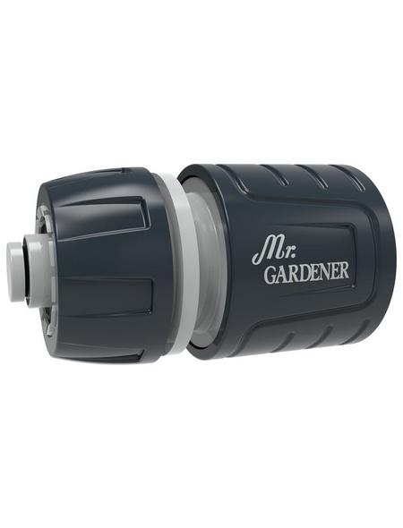 MR. GARDENER Wasserstopp-Schlauchstück, Kunststoff, grau/schwarz