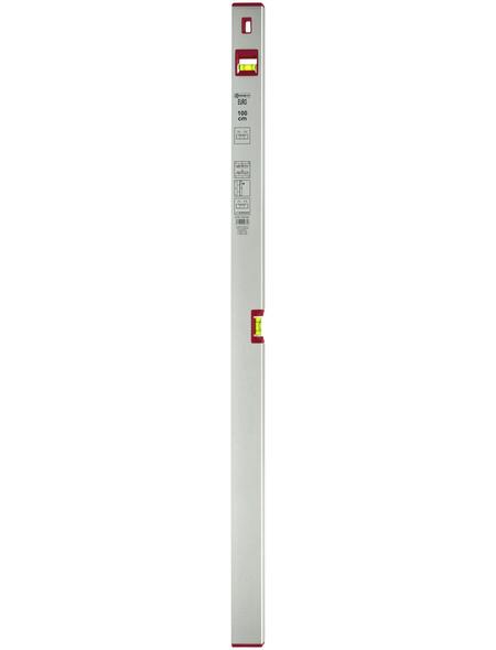 CONNEX Wasserwaage »EURO«, Länge: 100 cm, silberfarben