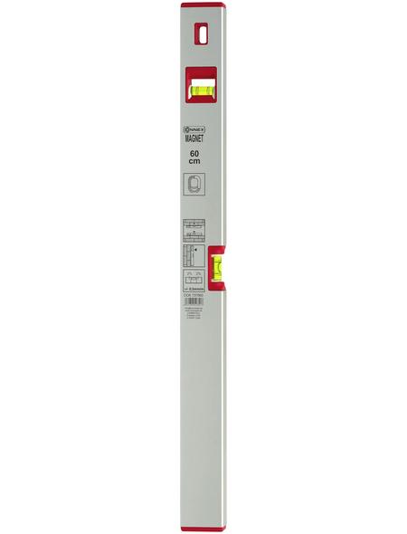 CONNEX Wasserwaage, Länge: 60 cm, silberfarben