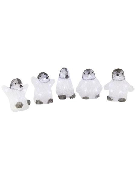 KONSTSMIDE Weihnachtsfigur, Pinguin, Höhe: 12,5 cm, Netzbetrieb