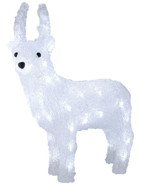 KONSTSMIDE Weihnachtsfigur, Rentier, Höhe: 38 cm, Netzbetrieb